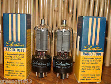 2 Vintage Sylvania 6BQ6 GT Radio Tubes Very Strong Results= 6900 6850