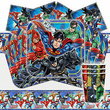 DC Justice League Tableware Party Decoration Pack Kit For 16 Children