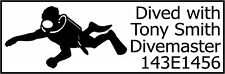 SCUBA-DIVING LOG-BOOK SELF-INKING STAMPS *NEW*
