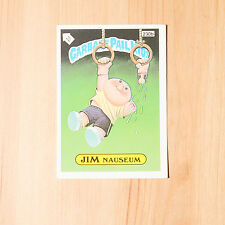 Vintage Garbage Pail Kids 1986 UK Sticker Collector's Card Jim Nauseum 230b