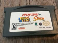 Mouse Trap/Operation/Simon (Nintendo Game Boy Advance, 2005) Used Free US S/H