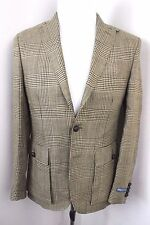 Polo Ralph Lauren Italy $695 Glen Plaid Linen Sportcoat Blazer Jacket Mens 36R