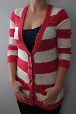 Ladies long sleeve pink Hollister long Cardigan Size S 8 10