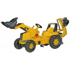 Rolly Toys CAT mit Frontlader und Heckbagger Traktor Trettraktor Bagger Anbauhe