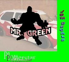 Mister Green Hulk Bitch Hater Fun Aufkleber Sticker JDM OEM Like