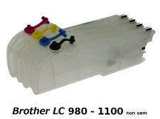 Brother LC980 / LC1100 XL - 4 x Cartouches Rechargeables non-oem★★★