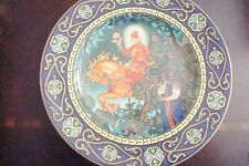 "HEINRICH Villeroy & Boch Collector plate ""The Red Knight"", ""Russian Tales"" NIB"