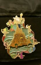 "The Little Mermaid Ariel Castle Fantasy Pin 5"" Super Jumbo LE 50 Stained Glass"