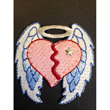 Broken hearted angel wings iron on craft motif élégant patch