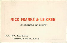 Nick Franks & Le Cren. Gangsters of Mirth. 67 Acre Lane, Brixton, London (JC.16)