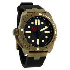Vestal Restrictor Diver 43 Black Dial Black Silicone Mens Watch RED3S03
