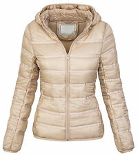 Ladies quilted jacket between-seasons winter hooded D-206