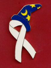 Disney Fantasy pin -  WHITE AWARENESS RIBBON UNDER THE SORCERER'S HAT