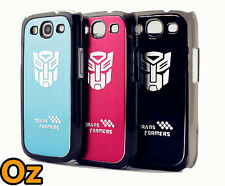 Transformers Phone Case for Sumsang Galaxy S3, Brushed Metal Logo WeirdLand