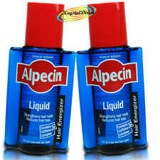 2x Alpecin Liquid With Caffeine Strengthens Hair Roots Reduces Hair Loss 200ml