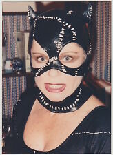 Found PHOTO Young Woman In Cat Woman Costume Close Up