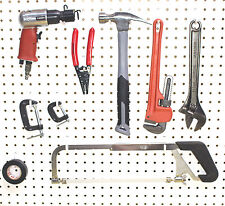 White Plastic Peg Board Hook Kit Garage Tool 50 L pieces PEGBOARD NOT INCLUDED