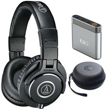 Audio-Technica ATH-M40x Headphones with FiiO A1 Amplifier + HardBody Case Bundle