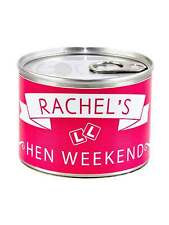 X1 PERSONALISED HEN PARTY FAVOUR PULL CAN FILLED WITH SWEETS & STICKER TO ADD