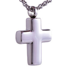 stainless steel cross pendant ash necklace cremation jewelry openable put in urn