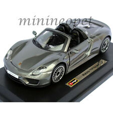 BBURAGO 18-21076 PORSCHE 918 SPYDER 1/24 DIECAST MODEL CAR GREY