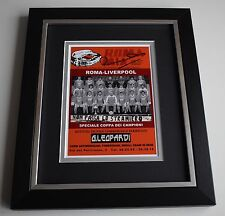 Ronnie Whelan SIGNED 10X8 FRAMED Photo Display Liverpool 1984 European Cup COA
