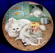 Gre Gerardi Captive Audience Kittens Victorian Doll Limited Ed Collectible Plate