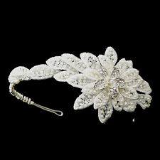 Pearl Side Bridal  Accented Headpiece