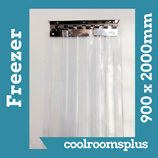 900 x 2000mm PVC Strips Clear Plastic Door Curtains Entry Strips for Freezer