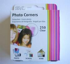 250 PRO TRANSPARENT CLEAR PHOTO CORNERS ACID FREE SELF ADHESIVE HIGH QUALTY