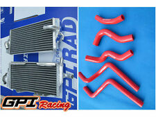 Aluminum Radiator+ RED hose for Honda CR125R CR 125R CR125 2 stroke 2000-2001