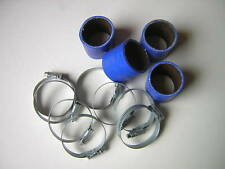 Silicone Hose 40mm Fitting Kit for Bike Carbs or Throttle Bodies BLUE