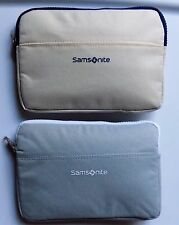 Two Styles New Latest Lufthansa Samsonite Business Class Amenity Bags QUALITY!