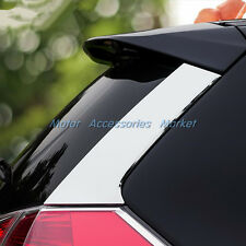 Steel Chrome Rear Spoiler Wing Side Trim For Nissan Rogue X-trail 2014 2015 2016