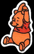 Winnie The Pooh (arms over head) iron-on/sew-on cloth patch  (sq)