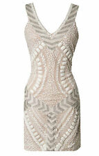 ONE DRESS A DAY MOROCCO BEADED SEQUIN NYLON/PANDEX WHITE DRESS SIZE M NWT