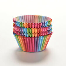 100X Colorful Rainbow Paper Cake Cupcake Liner Baking Muffin Cup Case for Party