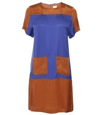 Gorman Blue Tan Gold Move Mountains Pocket Dress Size 10 RRP $249 BNWT