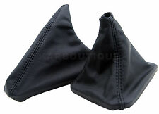 Shift Boot and E Brake Boot Set Leather For BMW 92-99 E36 Black