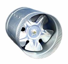 """GRO1 6"""" Booster Duct Fan 250 CFM Booster Blower Aluminum Blade Air Cooling Vent"""