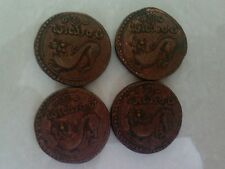 Ancient India krishnadevaraya dynasty  copper coin- 4 coins