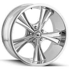 """Staggered Ridler 651 Front:18x8,Rear:18x9.5 5x4.75"""" +0mm Chrome Wheels Rims"""