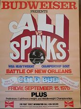 Muhammad Ali vs. Spinks Budweiser Original Boxing Poster - Battle of New Orleans