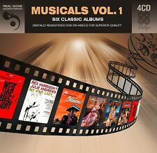 Musicals Vol. 1: Six (6) Classic Soundtrack Albums VARIOUS Best Of NEW 4 CD