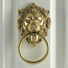 Anvil 33020 Polished Brass Lion's Head Georgian Antique Period Door Knocker