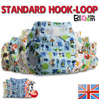 Washable Baby Nappy Cloth Cover Reusable STANDARD Hook-Loop Pocket Diaper 0-3yrs