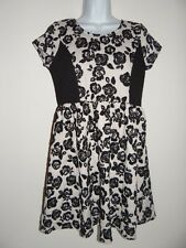 Girl's Disorderly Kids Blk/Ivory Floral Dress Size: XL(14/16)  Msrp $58 NWT SALE
