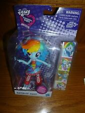 "2016 NR My Little Pony EQUESTRIA Girls RAINBOW DASH  Minis 5"" Doll School Dance"