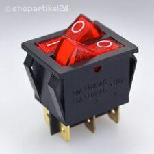 WIPPENSCHALTER - 2fach EIN/AUS WIPPSCHALTER - Schalter beleuchtet 250V 15A (S5)
