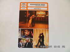 CARTE FICHE CINEMA 2002 ASSASSINATION TANGO Robert Duvall Ruben Blades K.Baker